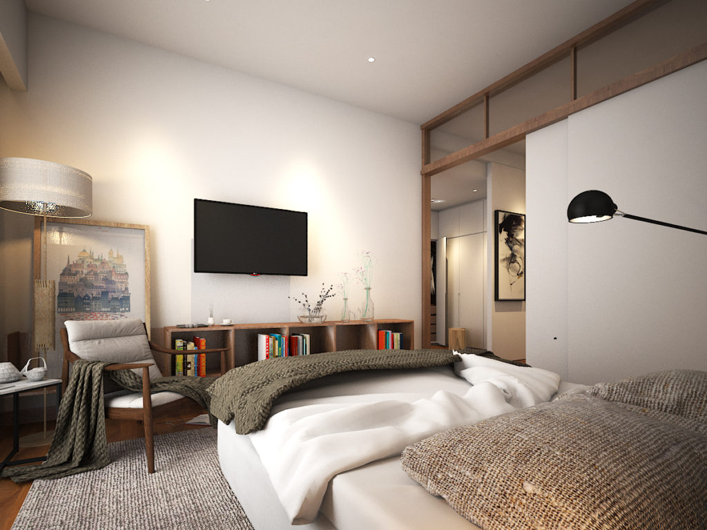 Master bedroom teak