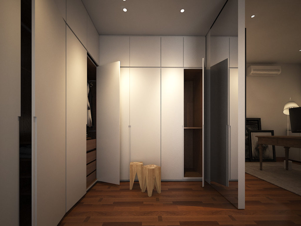 walk in wardrobe minimal